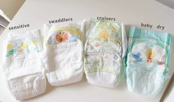 Pampers four diaper comprehensive