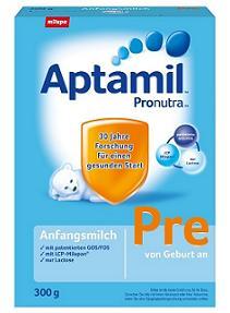 德国爱他美 Aptamil Pronutra Pre段新生儿婴幼儿配方奶粉300gX8盒