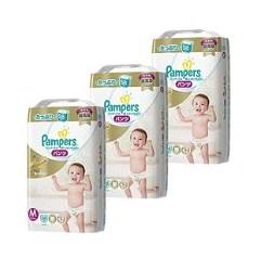 日亚帮宝适 Pampers 婴幼儿纸尿裤拉拉裤M、L、XL码3包装限时特惠