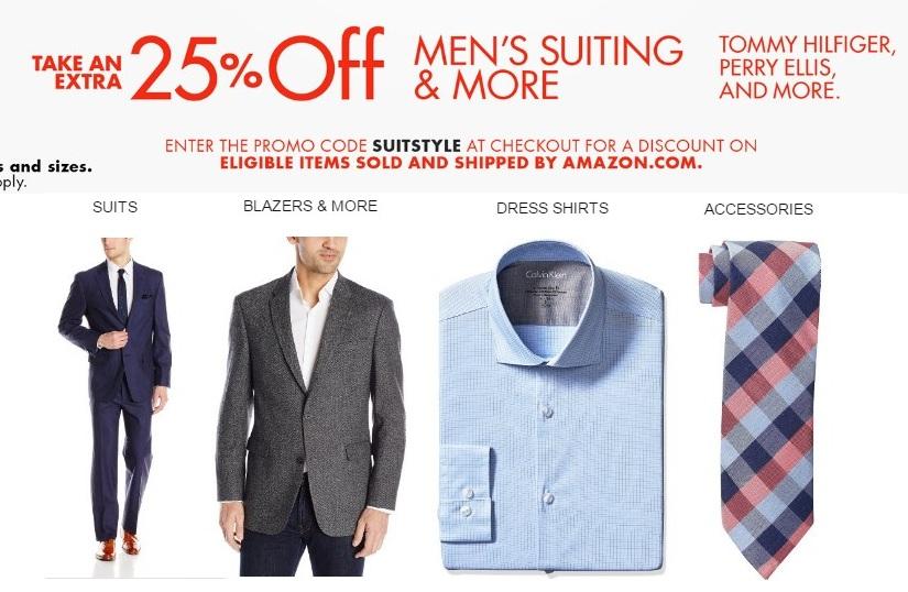 美亚男款正装、西服、西裤等额外75折