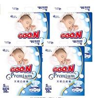 降价!大王 GOON 天使系列 Premium纸尿裤S (4~8kg) 232枚(58枚入×4包) 下手要快哦!