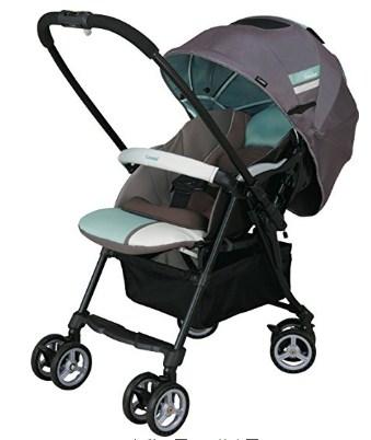 史低价!康贝 Combi CALDIA 单手可收车 4轮万向减震超轻量双向婴儿推车 拼接海洋色