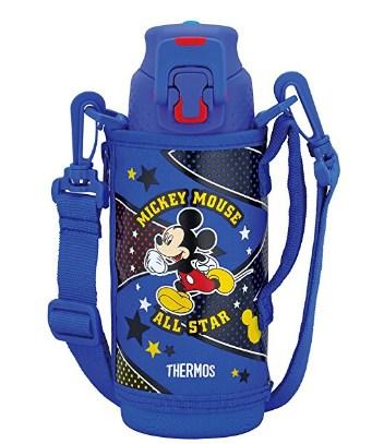 史低价!膳魔师 THERMOS 带杯套 保温保冷儿童运动水壶直饮水杯 FFZ-501FDS BLS 蓝色米奇