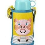 库存浅!小猪款补货!TIGER虎牌 MBR-B06G 两用保温杯 小猪款 0.6L