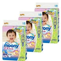 尤妮佳Moony腰贴型纸尿裤L码 66枚X3包