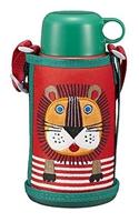 中亚海外购补货!虎牌 TIGER 小狮子双边不锈钢保温保冷水壶 600ml MBR-B06G-RL 小狮子款 两用保温杯 0.6L