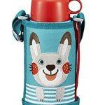补货!虎牌 Tiger 兔子和小猪 MBR-B06G-AR 2WAY不锈钢直饮附带饮水杯盖水壶