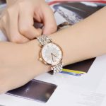(已断货)<del>Emporio Armani 阿玛尼 AR1926 双拼玫瑰金满天星女士时尚腕表