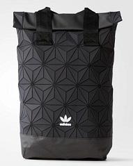降价,Adidas 阿迪达斯 3D ROLL TOP 三宅一生菱形格子双肩包 黑色